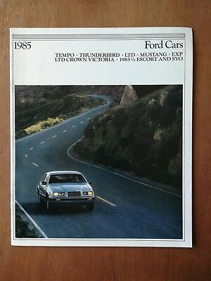 1985 Ford Cars Sales Brochure - Mustang - EXP - Thunderbird - 20 Pages