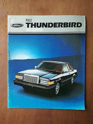 1982 Ford Thunderbird Sales Brochure - 15 Pages