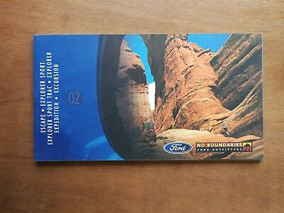 2002 Ford SUV Sales Brochure Book - Explorer - Escape - Expedition - 86 Pages
