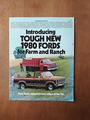 Vintage 1980 Ford Farm and Ranch Trucks Sales Brochure