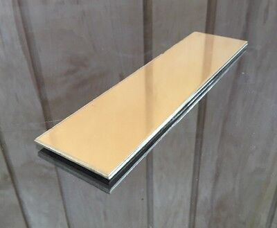 "1/8 BRASS SHEET PLATE NEW 2""X8"" .125 Thick *CUSTOM 1/8 SIZES AVAILABLE*"