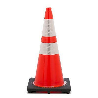 "Orange Traffic Cones 28"" w/ 4"" & 6"" Reflective Collars/ 1 cone"