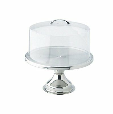 13-inch S/S Cake Stand with Matching Acrylic Cover, - Gift Set by Winco