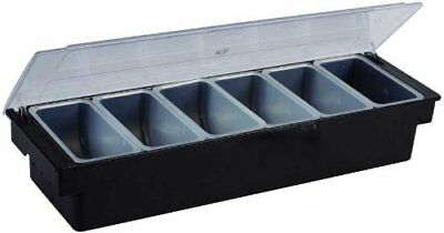 Winco CCH-6 6-Compartment Condiment Holder - Set of 6
