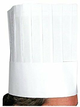 Chef Hat, Disposable, 12-Inch, 10pcs/bag, Set of 20 bags