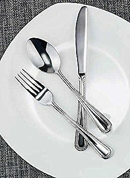 Winco Dots 3 Dozen Flatware Set, 18-0 S/S Spoons, Forks and Knives
