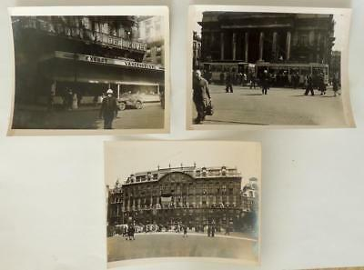 World War II WW2 Occupied Brussels Belgium Lot of 3 Original Photos #15