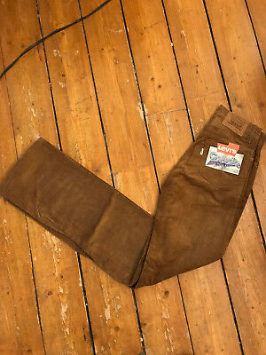 NEW WITH TAGS Deadstock Vintage LEVIS cord Jeans 527 FLARES W27 L34 Corduroy 70s
