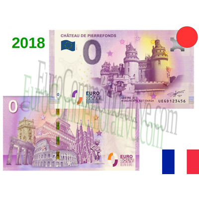 Billete 0 Euro Souvenir '' Chateau de Pierrefonds '' 2018