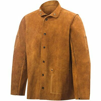 Steiner 9215-2X 30-Inch Jacket, Weld-Rite Premium Brown Split Cowhide, 2X-Large