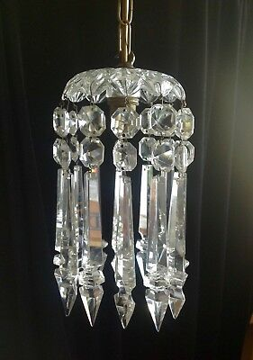 VICTORIAN ALBERT SPEARDROP Crystal Chandelier Light Fitting C - Chandelier drop crystals