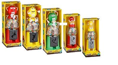 """M&M's Chocolate Candy Dispenser 9"""" / 12"""" - Red / Yellow / Green - Easter GIFT"""