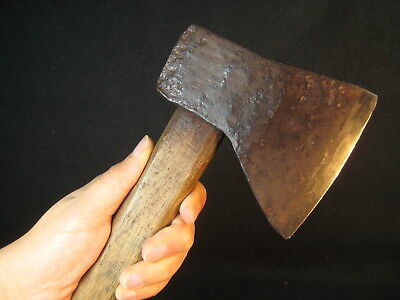 Japanese Antique 120 Year Old Hand Forged Laminated Iron Ono Ax