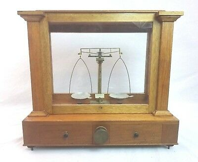 Antique 1904 Thompson Balance Denver Button Balance Apothecary Gold Scale