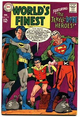 WORLD'S FINEST #173 1968-First Silver-Age TWO-FACE appearance-comic