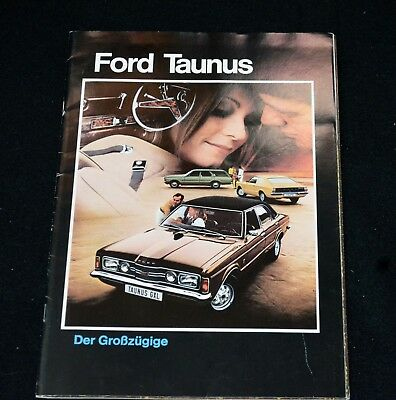 Ford Taunus Line for Switzerland 1972 Brochure