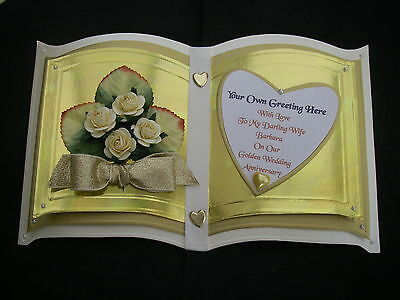 Wedding day anniversary engagement card handmade personalised boxed