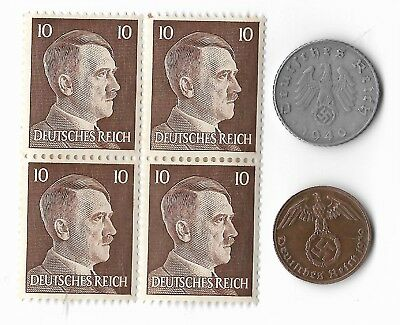 Rare Old German WWII WW2 Nazi Germany MUNICH SS Coin Stamp War Collection US/T17