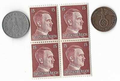 Rare Old German WWII WW2 Nazi Germany BERLIN SS Coin Stamp War Collection US/T19