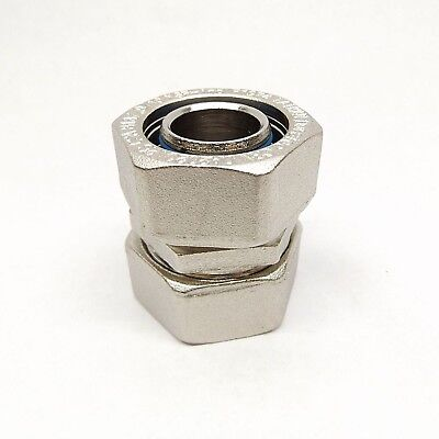 """Duratec Ipex 438023 1"""" Nickel Plated Brass Coupling With Double O-Ring Seals"""