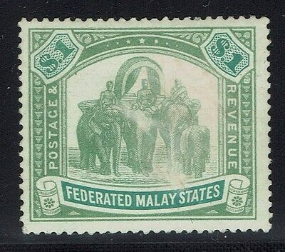 Federated Malay States SG# 48, Mint Never Hinged, Worn Image -  Lot 013116