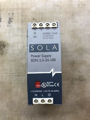 Sdn 2.5-24-100P, 24Vdc Sola Power Supply