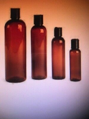 (Pack Of 25 Bottles Each) 8, 4, 2 & 1 Oz Amber Pet Cosmo Bottles With  Cap