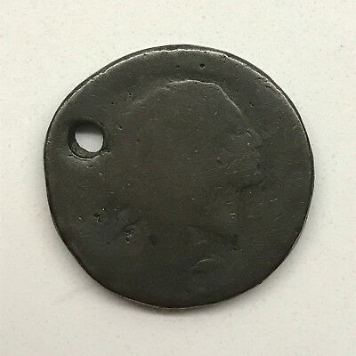 1793 1C Wreath Cent: Vines and Bars Edge: Holed #1