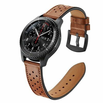 For Samsung Gear S3 Frontier / Classic Smartwatch Genuine Leather Strap Bands