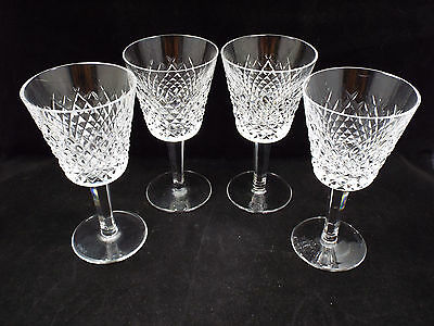 Waterford Crystal Alana 4 Claret Wine Glasses, 5 3/4""