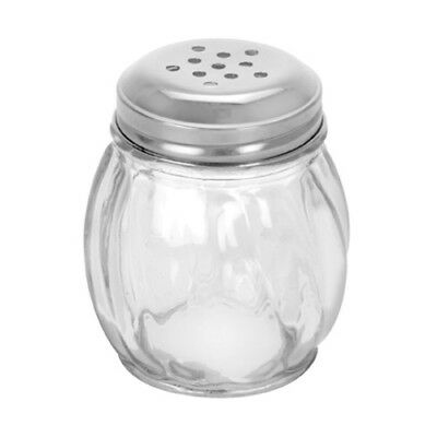 NEW Anchor Hocking Glass Cheese Shaker Stainless Steel Lid Kitchen 70mL