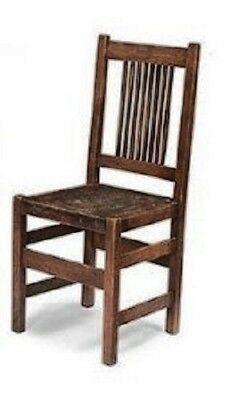 JBM Miniatures J6024WN Mission Style Side Chair - Walnut -1:12