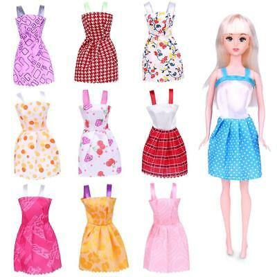 10Pcs Fashion Handmade Dresses Clothes For Barbie Doll Style Random Gift Set Hz