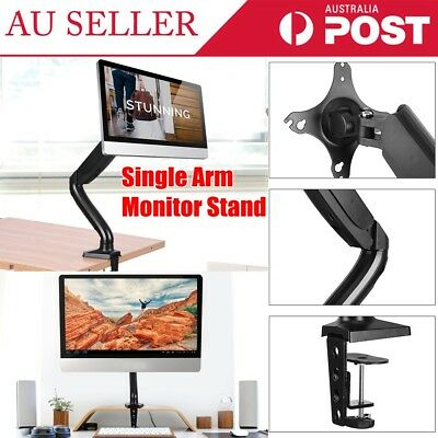Single Arm Desktop TV/ Computer Display Screen Monitor Stand Support Holder