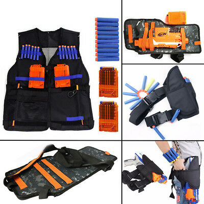 Tactics Vest with Storage Pockets Wrist band for Nerf N-Strike Elite Team UK
