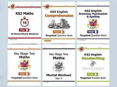 KS2 Literacy & Numeracy Year 3 Home Learning Pack of 5 Workbooks Kids Age 7-8