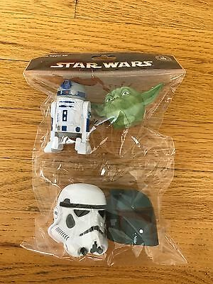 Auth Disney Parks Star Wars Car Antenna Topper Top Set of 4 R2D2 Boba Fett Yoda