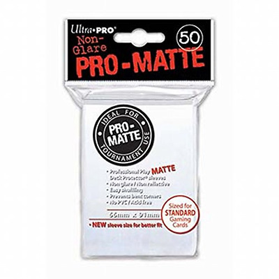 Ultra Pro SLEEVES Pro-Matte d12 Card Game (White)