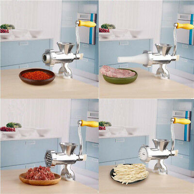 Heavy Duty Meat Mincer Grinder Manual Hand Operated Kitchen Beef Sausage Maker H