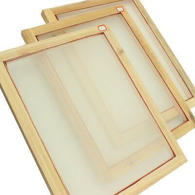 AU A3 Screen Printing Wooden Frames Choose Mesh Count 90T 77T 55T 43T 32T Silk