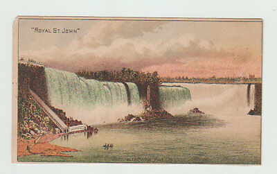 Victorian Trade Card,  The Royal St. John Sewing Machine, Niagra Falls