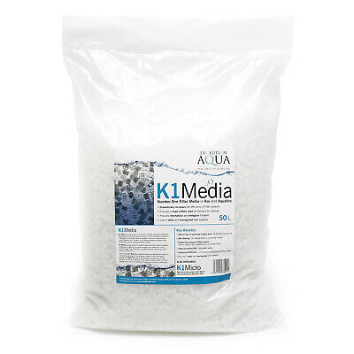 1.43€/L Unique Koi K1 Media 50L 4 Stege Moving-Bed Filtermedium Filtermaterial