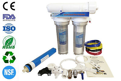 Finerfilters 3 Stage RO Reverse Osmosis System Aquarium Tropical & Marine 75GPD