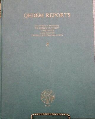 1st Edition Qedem Reports The Institute Of Archaeology 3 Hebrew University 1996