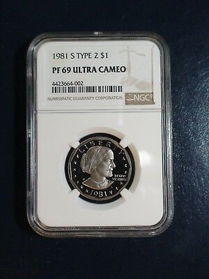 1981 S TYPE 2 Susan B Anthony Dollar NGC PF69 UCAM $1 Coin Starts At 99 Cents!