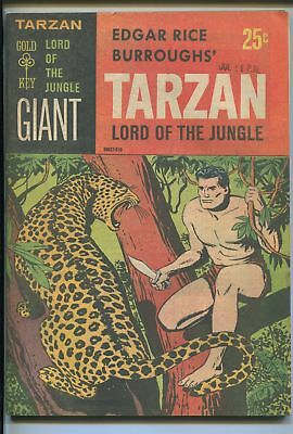 TATRZAN LORD OF THE JUNGLE #1 1965-GOLD KEY-1ST ISSUE-PAPER COVERS-vf+