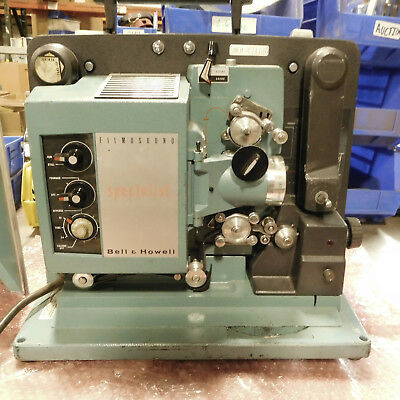 Vintage Bell & Howell 16mm Filmosound Specialist 540 Projector with Cover