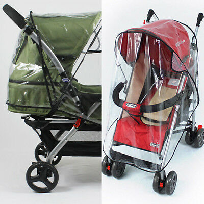 Universal Baby Pushchair Buggy Transparent Rain Cover Stroller Wind Dust Shield