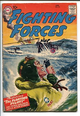 OUR FIGHTING FORCES #20-1957-DC-SILVER AGE-GREYTONE COVER-MORT DRUCKER-vg