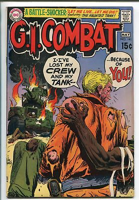 G.I. COMBAT #141 1967-DC-WWII STORIES- HAUNTED TANK STORY-1ST RACIAL COVER-vf